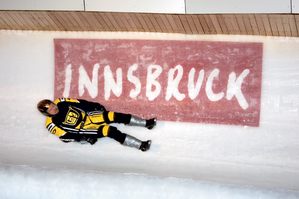 Der Innsbrucker Eiskanal bei der Wok WM.  Foto: Innsbruck Tourismus