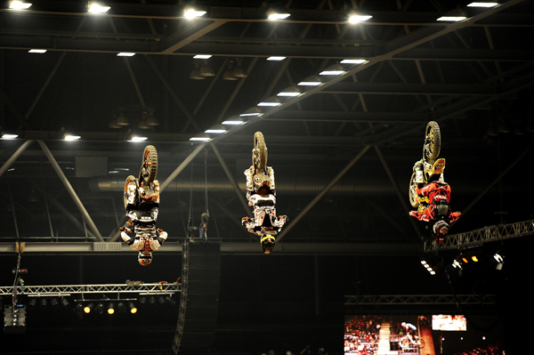 Action beim Kings of Extreme 2011 in Leipzig.  Foto: Petipix.de