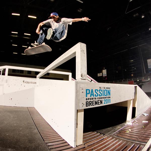 Skateboard Action auf der Passion Sports Convention.  Foto: Fotolia