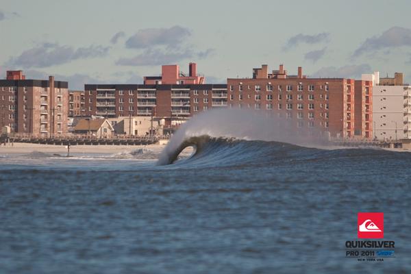 Der Schauplatz des Quicksilver Pro New York: Long Island.  Foto: mike nelson /  unsound surf