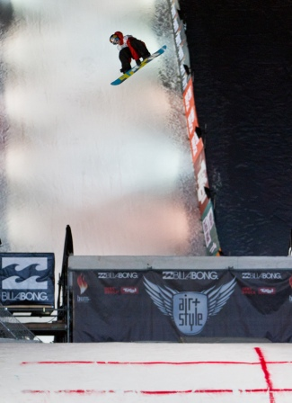 Mark McMorris beim Air & Style in Innsbruck. Copyright: Billabong Air & Style