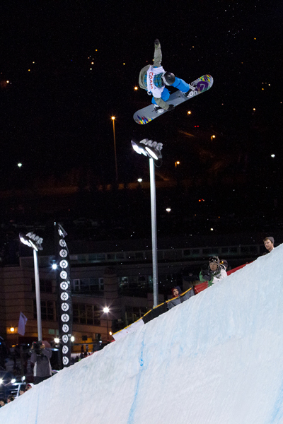 Kelly Clark in der Halfpipe.  Foto: Jeff Patterson