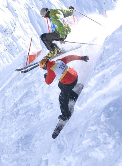 Freeride-Action beim Nebelhorn Classics.  Foto: Christoffer Leitner
