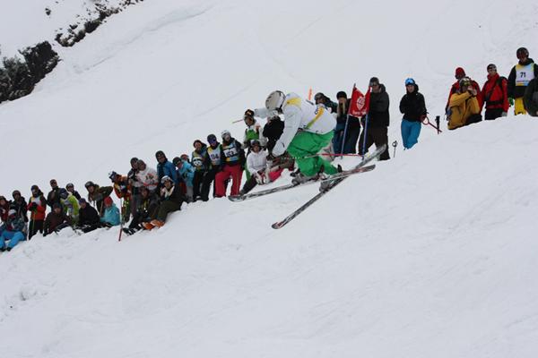 Freeride-Action beim Nebelhorn Classics.  Foto: Florian Schindler