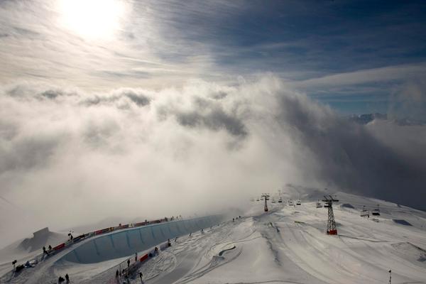 Schweizer Wintersport-Resort Laax.  Foto: Stadler