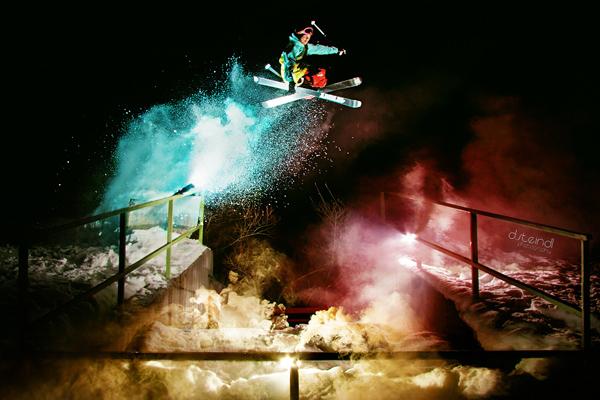 Siegerfoto bei den Freeskiern.  Foto: Dominik Steindl