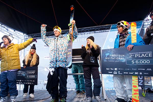Podium Frostgun Invitational 2011.  Foto: Jesper Gronnemark