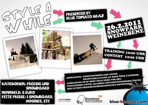Flyer zum Style A While 2011 Foto: Veranstalter