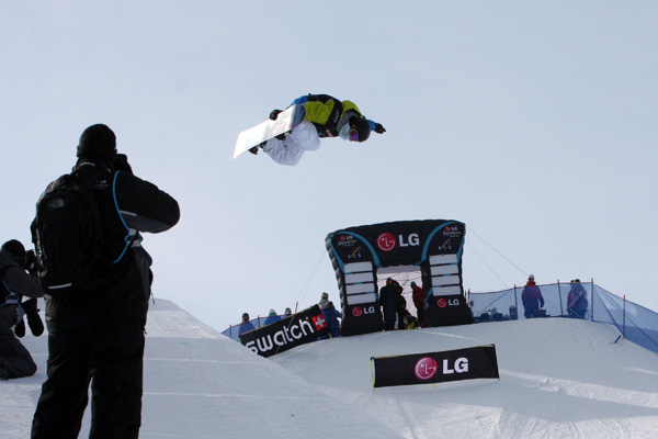 Xuetong Cai beim Sieg in Calgary.  Foto: FIS/Oliver Kraus