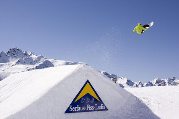Snowpark Fiss Ladis.  Foto: Madlener/ QParks