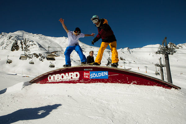Freestyle Feast im Swatch Snowpark Sölden 2011.  Foto: Rudi Whylidal