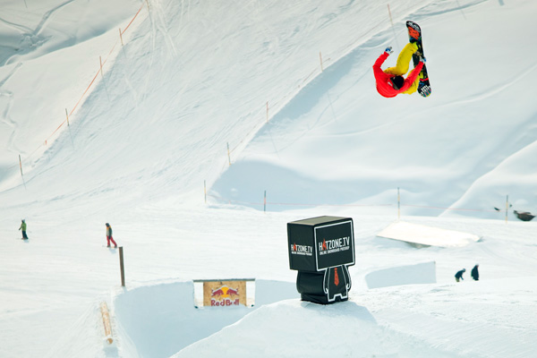 Snowboarder Herby Thaler.  Foto: Erwin Polanc