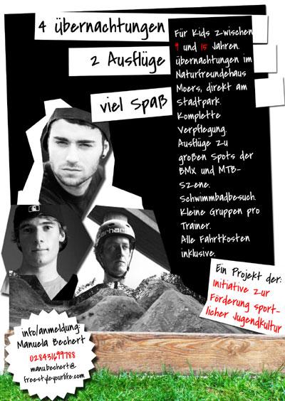 Flyer zum Dirt Camp in Moers  Foto: Veranstalter