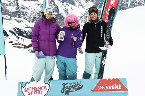 Siegertreppchen der Frauen. Foto: Veranstalter Swisscom