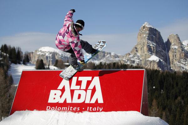 Snowpark Alta Badia in Italien.  Foto: Paco/ Qparks