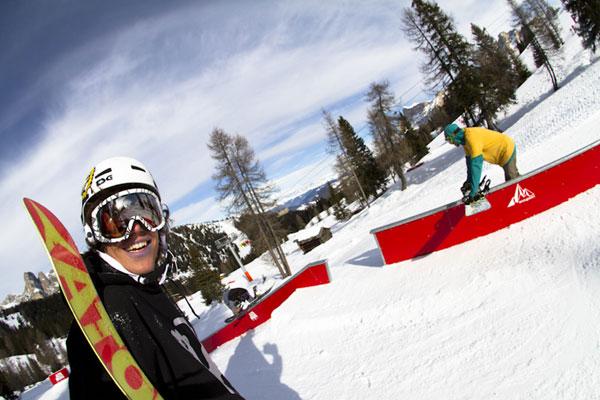 Snowpark Alta Badia in Italien.  Foto: Roland Haschka