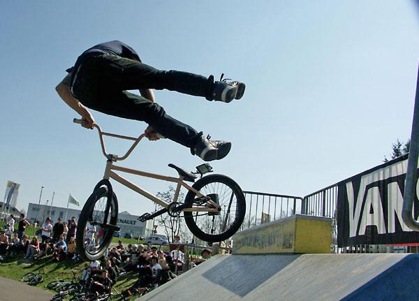 Bike Action im Wendalinuspark.  Foto: Achim Thiel