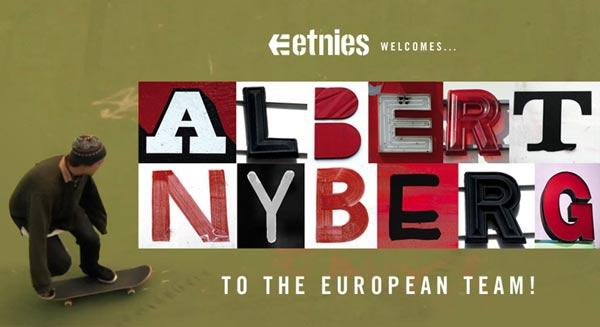 Das Etnies Skate Team begrüßt den neuen Teamrider Albert Nyberg.  Foto: etnies