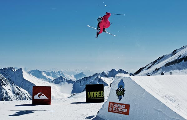 Freeski Action in Moreboards Park.  Foto: Stefan Eigner