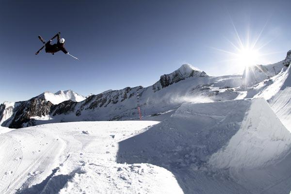 Snowpark Kitzsteinhorn.  Foto: Roland Haschka/ QParks