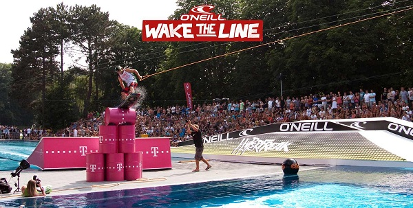 Wakeboard Action bei Wake the Line.  Foto: Veranstalter