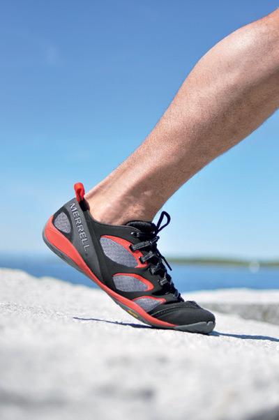 Merrell Schuh auf hartem Untergrund.  Foto: Merrell