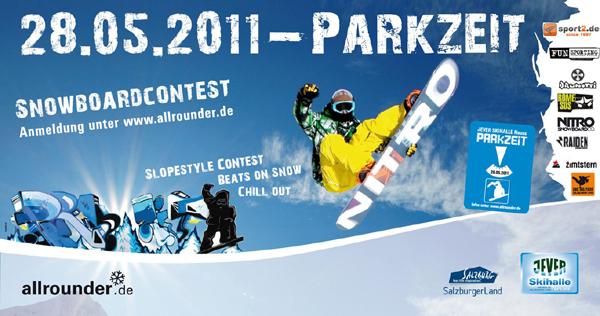 Plakat Parkzeit 2011.  Foto: Jever Skihalle