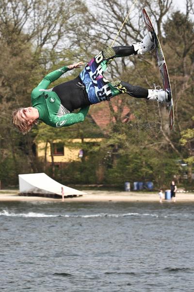 Rick Jensen in Aktion.  Foto: North Wakeoard Challenge 2011