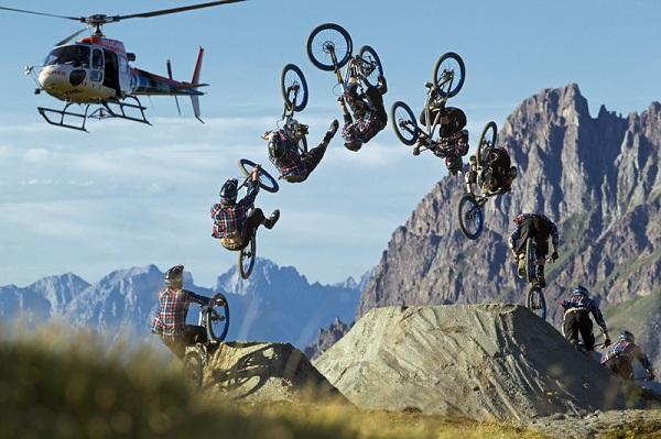Mountainbiker  Andi Wittmann.  Foto: M. Greber