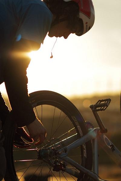 Mountainbiker  Andi Wittmann.  Foto: L. Scharl