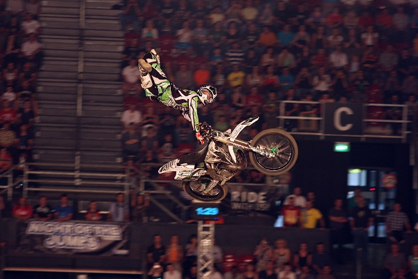 Remi Bizouard  bei der Night of the Jumps 2011 in Basel.  Foto: Oliver Franke / IFMXF.com
