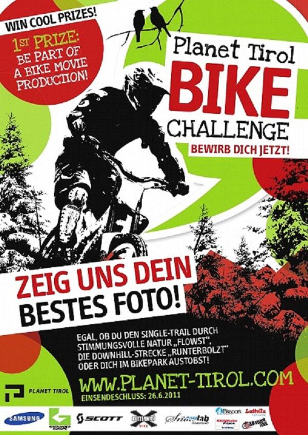 Plakat zur Planet Tirol Bike Challenge 2011.  Foto: Veranstalter