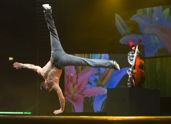 Breakdance-Action bei Urbanatix.  Foto: Stefan Daub