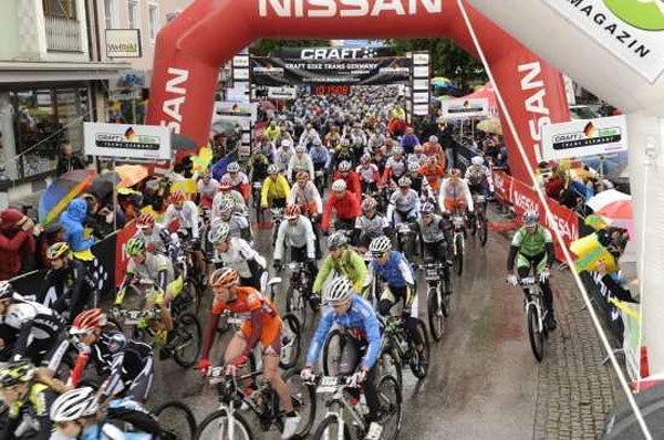Start beim Craft Bike Trans Germany 2010.  Foto: Veranstalter