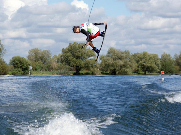 Wakeboard Action beim Corona Wakeboard Cup.  Foto: wakeboard AG