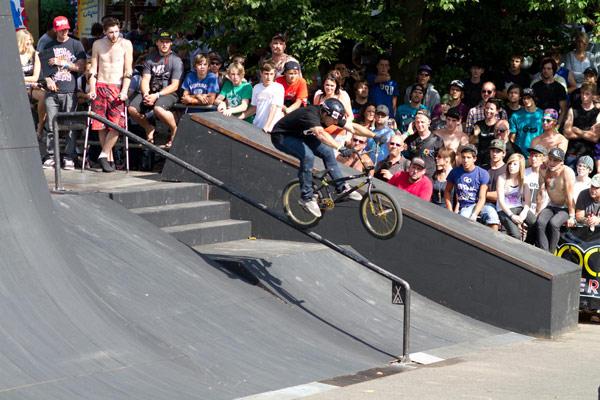 Park-Action bei den BMX Matsers in Köln.  Foto: Veranstalter