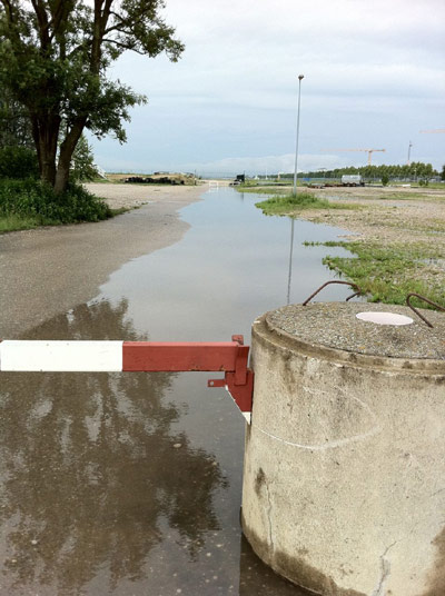 Die überschwemmte Anlage des MSC Freisinger Bär.  Foto: Veranstalter