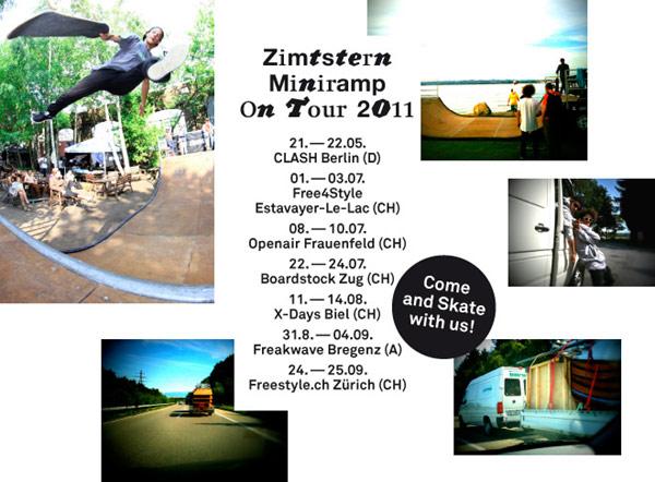 Flyer zur Zimtstern Miniramp Tour 2011.