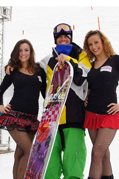 Snowboarder Patrick Rauter.