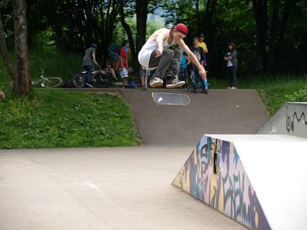 Auftakt der Sunny Hills Skatetour 2011.  Foto: Veranstalter