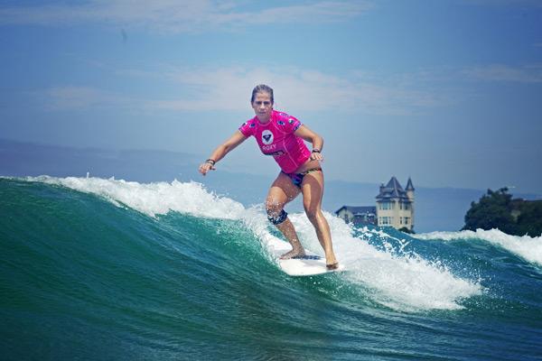 Lindsay Steinriede gewinnt Roxy Pro 2011 in Biarritz.  Foto: Roxy