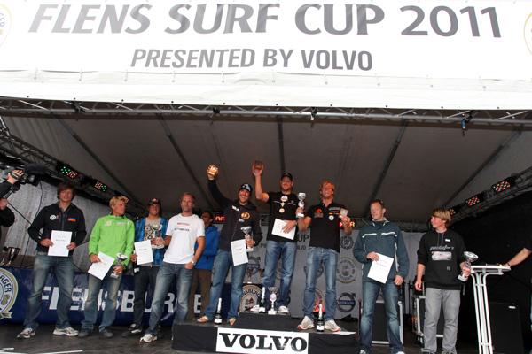 Flens Surf Cup 2011-Siegerehrung.  Foto: Flens Surf Cup 2011