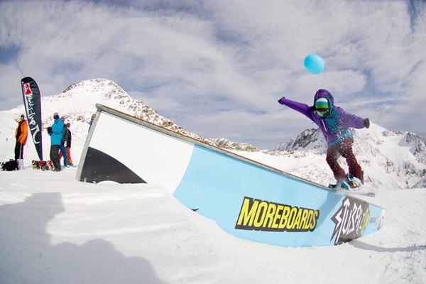 Snowpark Opening auf dem Stubaier Gletscher.  Foto: Peter Fettich