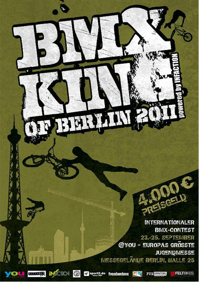 BMX King of Berlin auf der YOU 2011 in Berlin.  Flyer zum BMX King of Berlin auf der YOU 2011 in Berlin