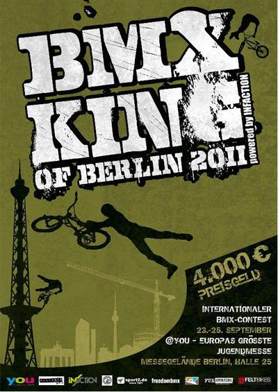 BMX King of Berlin auf der YOU 2011 in Berlin.  Flyer zum BMX King of Berlin auf der YOU 2011 in Berlin