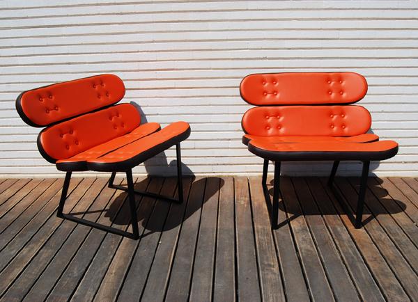 bildergalerie skate home m bel aus skateboards. Black Bedroom Furniture Sets. Home Design Ideas