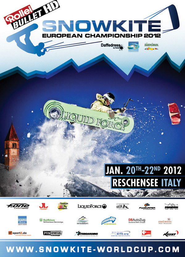 Rollei Bullet HD Snowkite Europameisterschaft 2012.  Foto: www.snowkite-worldcup.com