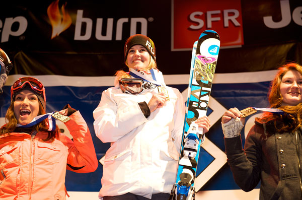 Sarah Burke gewinnt die Winter X Games 2011.