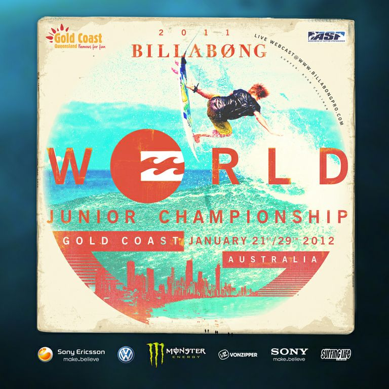 Billabong World Junior Championships Gold Coast 2012.  Foto: www.billabongpro.com