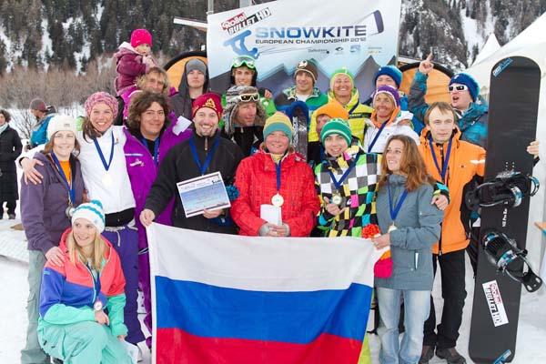 Snowkite EM Reschensee 2012.  Foto: www.brandguides.net
